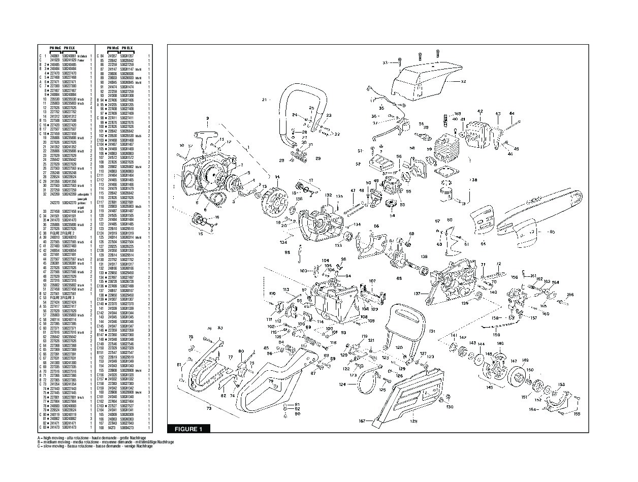 Mcculloch Pro Mac 610 Chainsaw Parts Diagram Wiring Diagrams Engine Promac 54 61 Deko Partner P610 P541 Carb