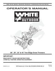 white outdoor snow blower manuals rh lawn garden filemanual com White Snowblower Co White Snowblower Co