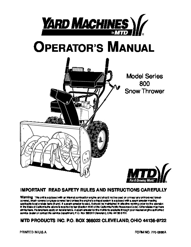 yardman snowblower owners manual free owners manual u2022 rh wordworksbysea com mtd snowblower service manual mtd snow thrower repair manual