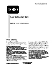 Toro 51612 Leaf Collection Cart Parts Catalog, 2004, 2005, 2006 page 1