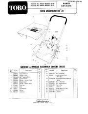 Toro 38030 Snow Master 20 Parts Catalog, 1978 page 1