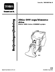 Toro 62925 206cc OHV Vacuum Blower Ejere Håndbog, 2006 page 1
