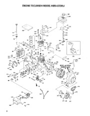 Toro 38054 521 Snowthrower Parts Catalog, 1991 page 8