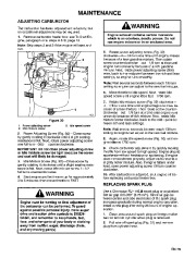 Toro 38054 521 Snowthrower Owners Manual, 1995 page 19