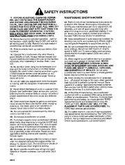 Toro 38054 521 Snowthrower Owners Manual, 1995 page 2