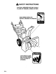 Toro 38054 521 Snowthrower Owners Manual, 1995 page 4