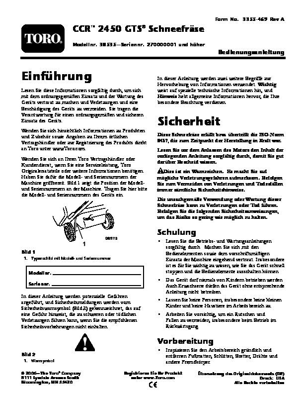 toro ccr 3650 owners manual