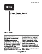 Toro 51586 Power Sweep Blower Parts Catalog, 2000, 2001, 2002, 2003, 2004 page 1