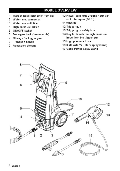 Krcher K 3 350 Electric Power High Pressure Washer Owners Manual