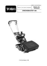 Toro 04130, 04215 Toro Greensmaster 500 Manual del Propietario, 2005 page 1