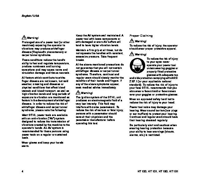 Stihl Ht 101 Parts Manual