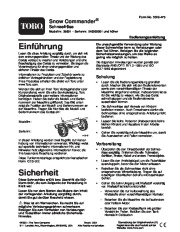 Toro 38601 Toro Snow Commander Snowthrower Laden Anleitung, 2004 page 1