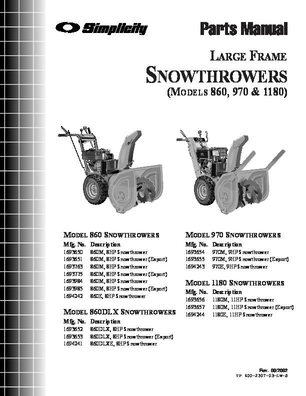 simplicity 860 970 1180 8 9 11 hp 1693650 51 63 84 75 42 52 56 large rh filemanual com simplicity 860 snowblower engine manual simplicity 870 snowblower manual