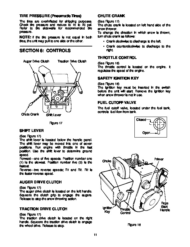 yard machine 22 snow thrower manual