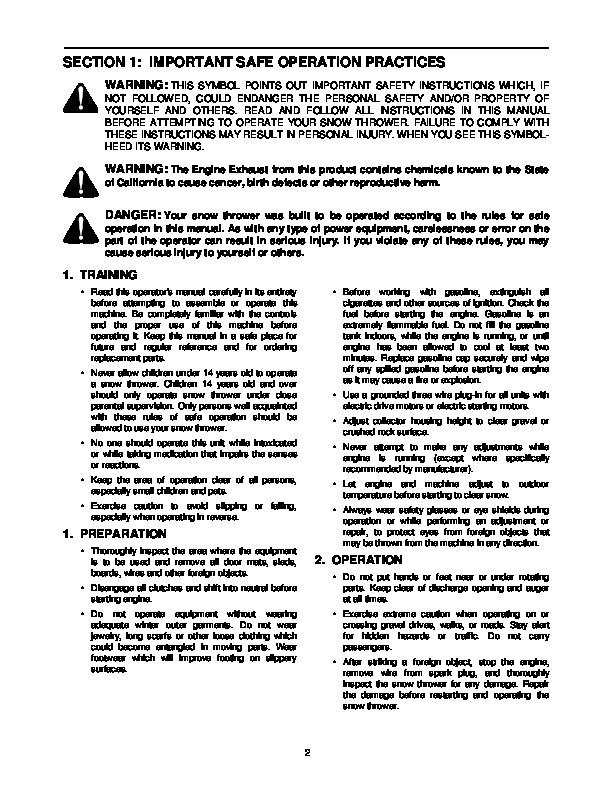 yard machine owners manuals