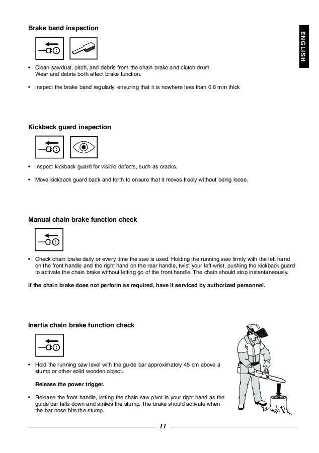 Husqvarna 315 320 Electric Chainsaw Owners Owners Manual