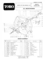 Toro 38052 521 Snowblower Manual, 1984 page 1