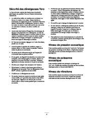 Toro 38053 824 Power Throw Snowthrower Manuel des Propriétaires, 2002 page 5