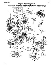 Toro 38053 824 Snowthrower Parts Catalog, 2000, 2001 page 20