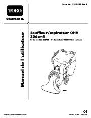 Toro 62925 206cc OHV Vacuum Blower Manuel des Propriétaires, 2006 page 1