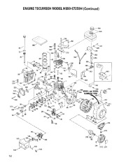 Toro 38052C 521 Snowthrower Parts Catalog, 1989 page 12