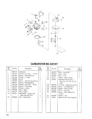 Toro 38052C 521 Snowthrower Parts Catalog, 1989 page 14