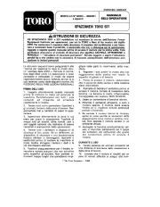 Toro 38054 521 Snowthrower Manuale Utente, 1990 page 1