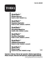 Toro 51566 Quiet Blower Vac Manual, 2000 page 1