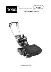 Toro 04130, 04215 Toro Greensmaster 500 Manuale Utente, 2005 page 1