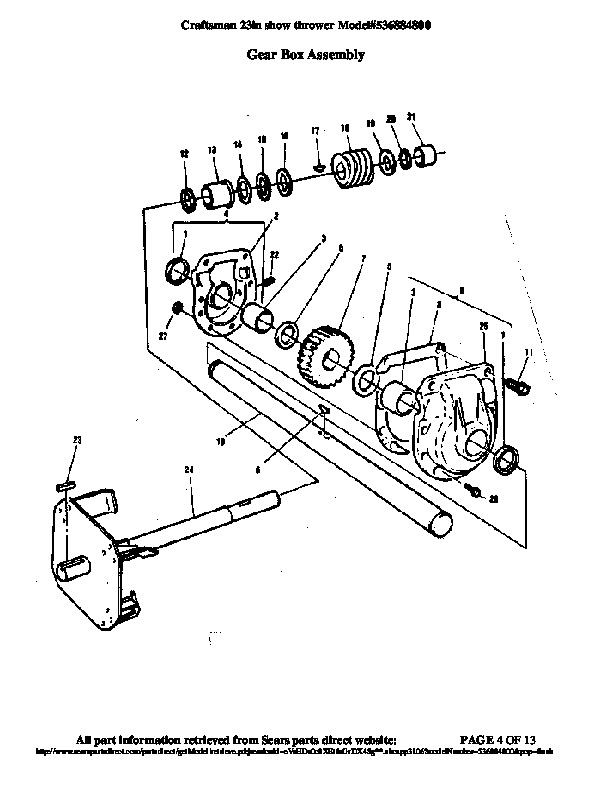 craftsman 26 snowblower engine diagram