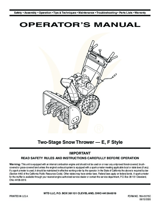 user manual style