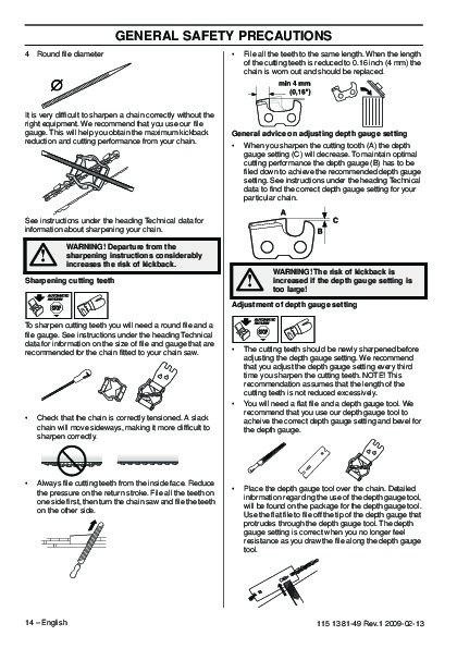 Husqvarna 445 445e 450e Chainsaw Owners Manual 2005 2006 Manual Guide