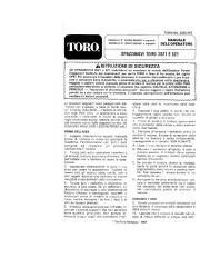 Toro 38052C 521 Snowthrower Manuale Utente, 1988 page 1