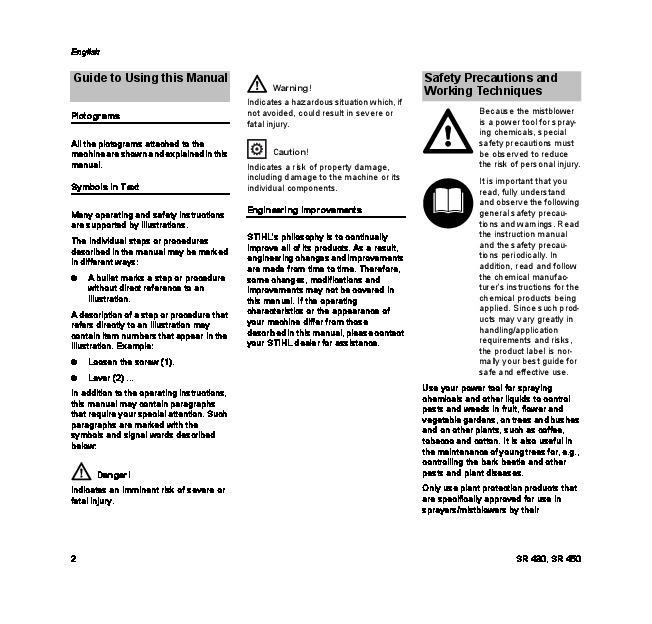 Stihl Sr 430 Инструкция - фото 11