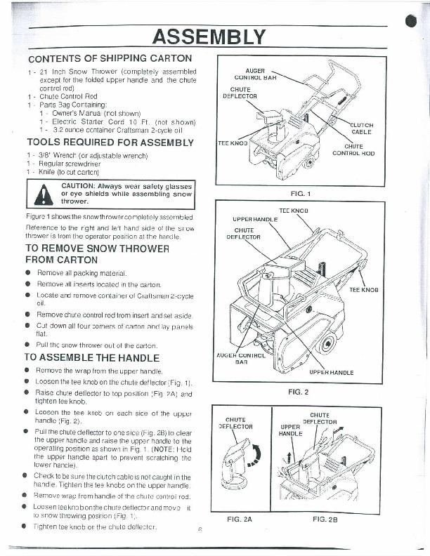 craftsman 21 snow thrower manual