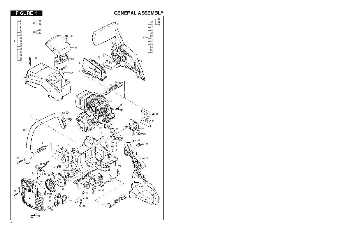 mcculloch 46cc 49cc 55cc ms1846av 20 49 2049 mac 4600 49 55 pm1846av rh filemanual com McCulloch Chainsaw Repair Parts mcculloch silver eagle chainsaw parts