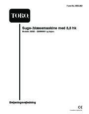 Toro 62925 206cc OHV Vacuum Blower Ejere Håndbog, 2003, 2004, 2005 page 1