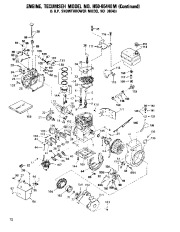 Toro 38040 524 Snowthrower Parts Catalog, 1982, 1983 page 12