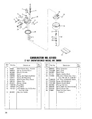 Toro 38040 524 Snowthrower Parts Catalog, 1982, 1983 page 20