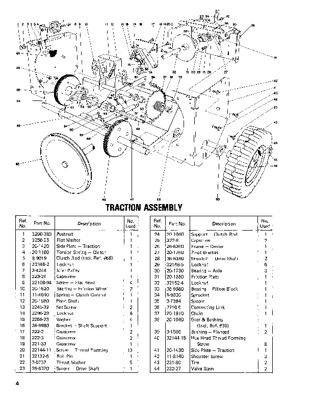 toro 824 snowblower parts diagram