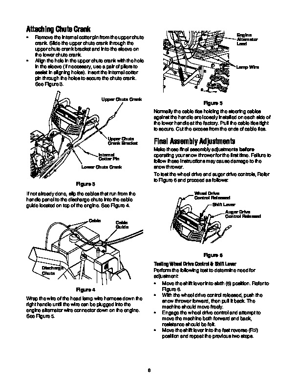 cub cadet snow blower manual