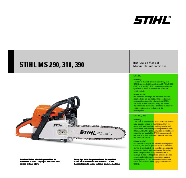 stihl ms 290 310 390 chainsaw owners manual rh filemanual com stihl chain saws manual stihl chain saws manual 026