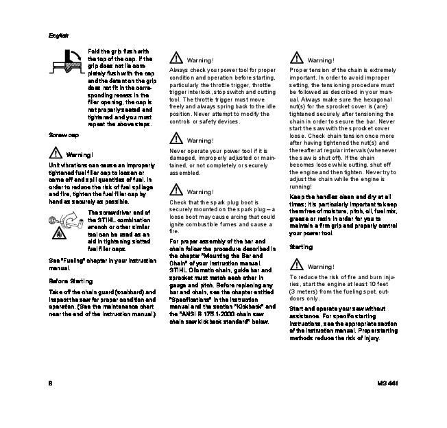 stihl ms 260 manual pdf