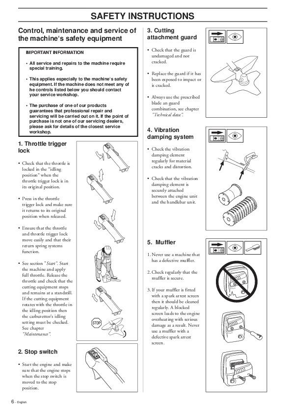 Husqvarna 232 R 1997 Manual Guide