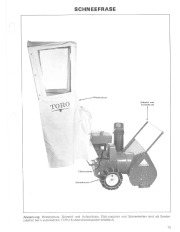 Toro 38040 524 Snowthrower Laden Anleitung, 1979 page 11