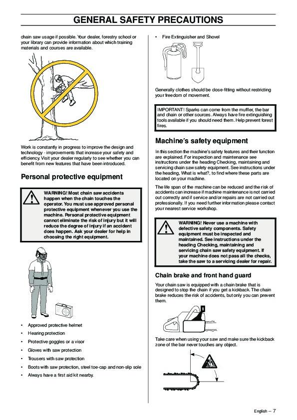 husqvarna 61 268 272xp chainsaw owners manual 2003 2004 2005 2006 2007 rh lawn garden filemanual com husqvarna 61 chainsaw parts manual Husqvarna 61 Chainsaw Parts Manual