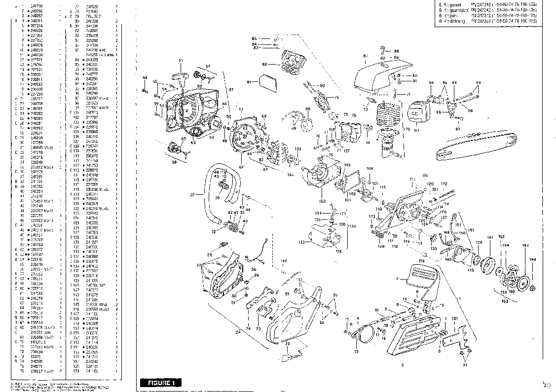 Eager Beaver 20 Chainsaw Parts Diagram Manual Guide