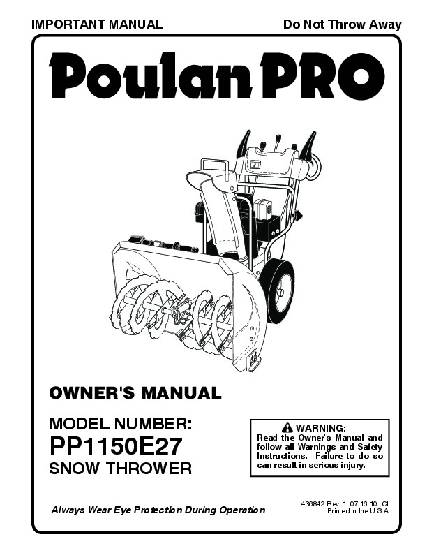 Poulan 2150 Won T Start
