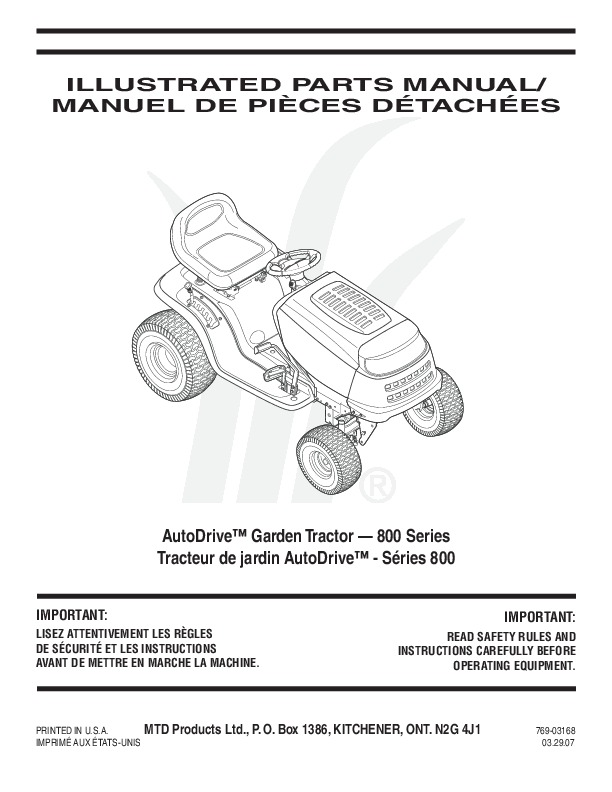 Huskee Slt4600 Parts manual