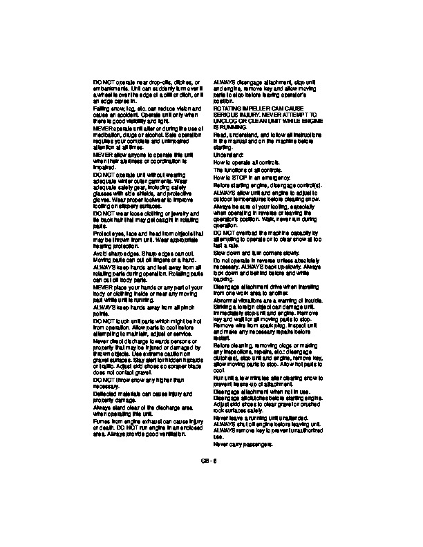 Ariens 931033 Owner Manual on